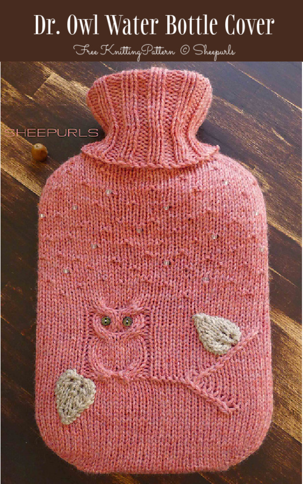 Dr. Owl Hot Water Bottle Cover Free Knitting Patterns