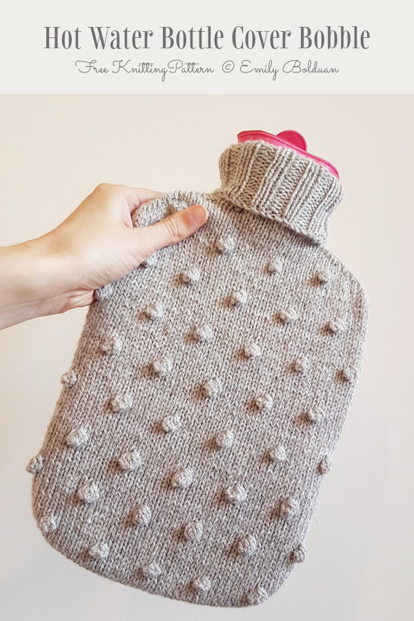 Bobble Hot Water Bottle Cover Free Knitting Patterns