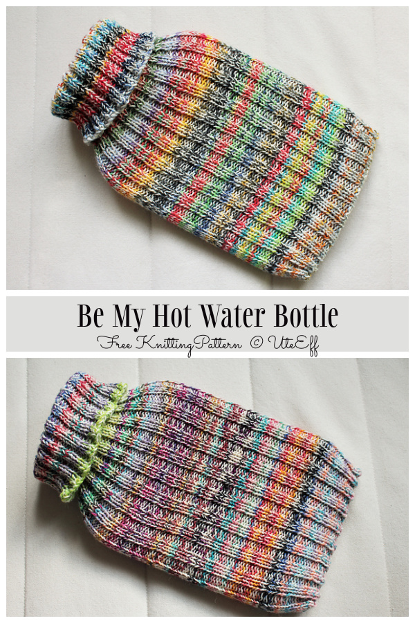 Be My Hot Water Bottle Cover Free Knitting Patterns
