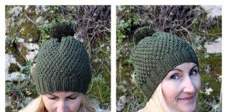 Irish Moss Beanie Hat Free Knitting Pattern
