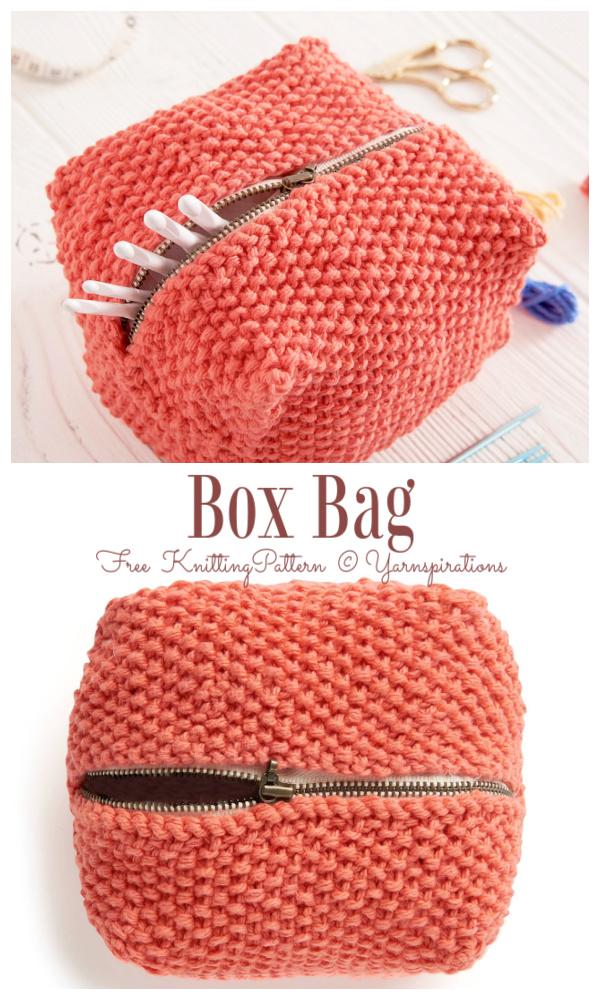 Knit Box Bag Free Knitting Pattern