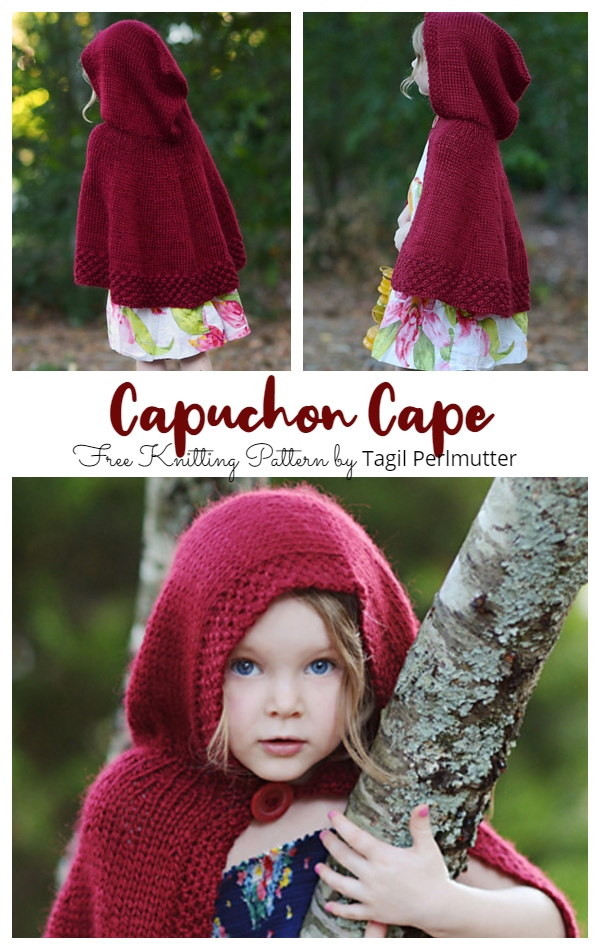 Capuchon Red Cape Free Knitting Patterns