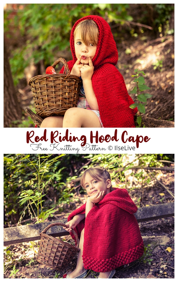 Red Riding Hood Cape Free Knitting Patterns