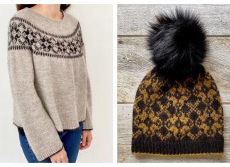 Night Blooms Sweater & Hat Set Free Knitting Patterns