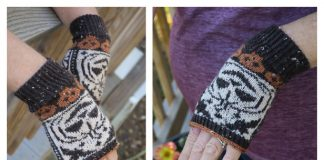 Knit Pumpkin Mitts Free Knitting Pattern