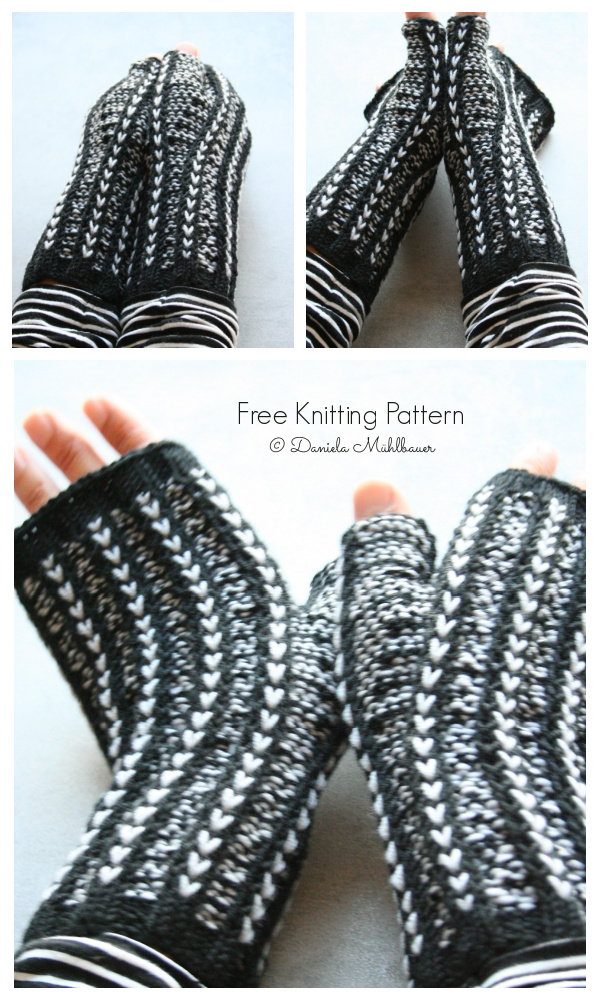 Rhia Mitts Free Knitting Pattern