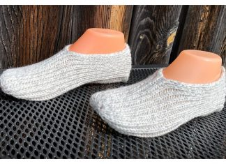 Simple Knit Slippers Free Knitting Pattern