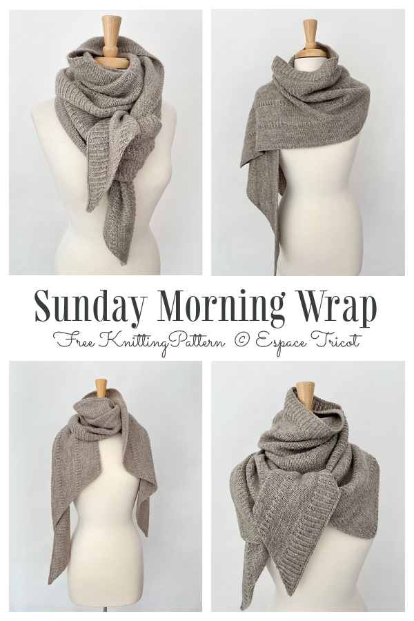 Knit Sunday Morning Wrap Free Knitting Pattern