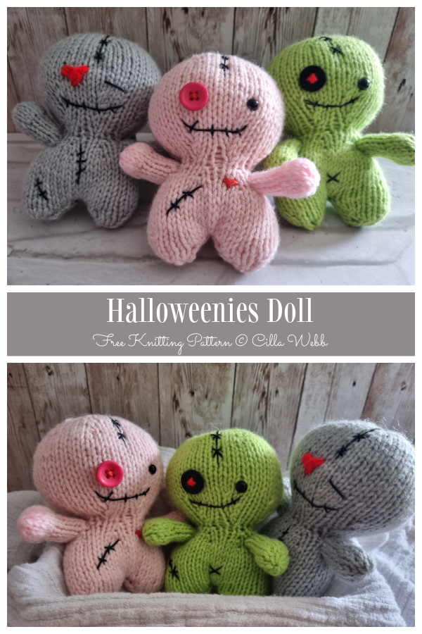 Amigurumi Halloweenies Toys Free Knitting Patterns