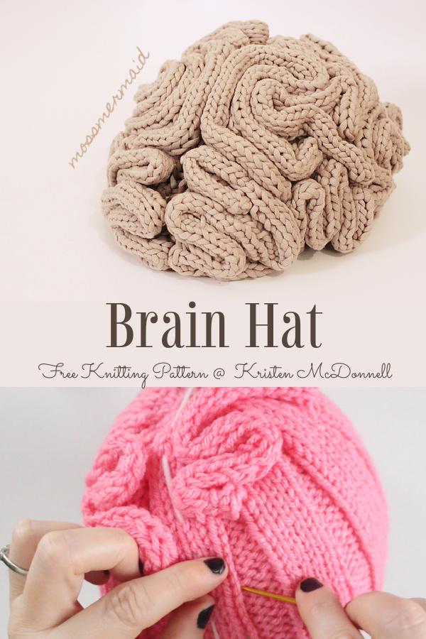 Brain Hat Free Knitting PatternBrain Hat Free Knitting Pattern