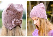 Knit CatHat Beanie Free Knitting Pattern
