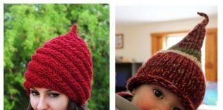 Christmas Gnome Hat Free Knitting Patterns