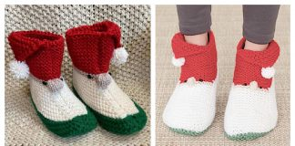 Christmas Gnome Slippers Free Knitting Pattern