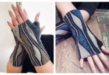 Mixed Wave Mitts Free Knitting Patterns