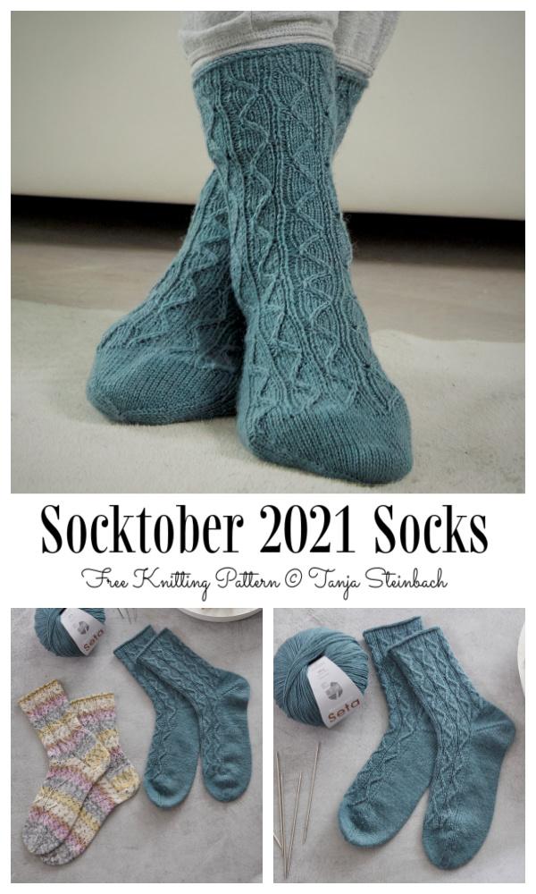 Knit October Sock Free Knitting Pattern